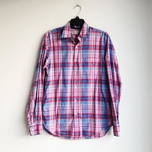 J. CREW | Blue and Pink Cotton Button Down | M